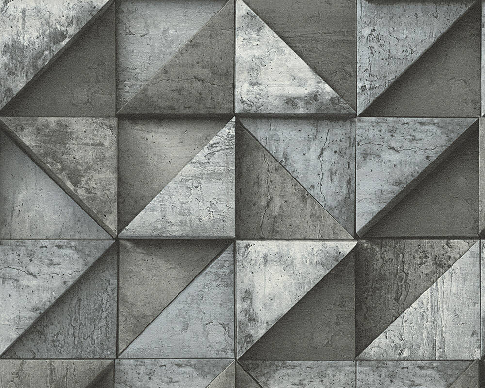 Papier Peint Noir Et Blanc Graphique daniel hechter papier peint «graphique, 3d, gris, noir» 306504