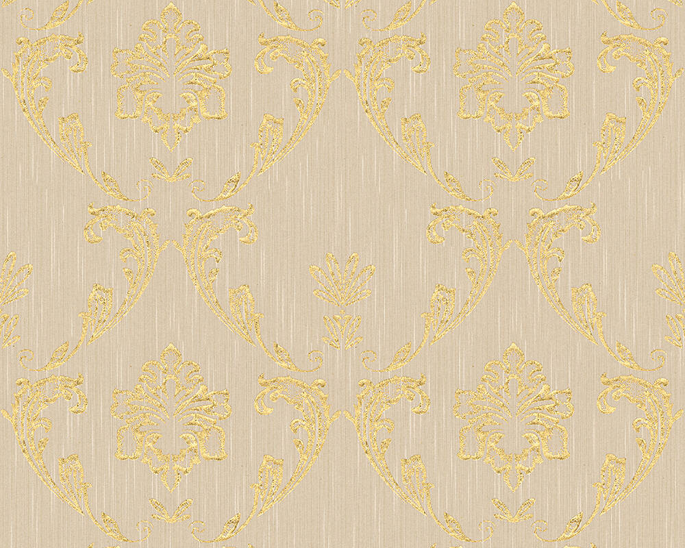 Architects Paper Wallpaper Uni, Beige, Gold, Metallic 306582