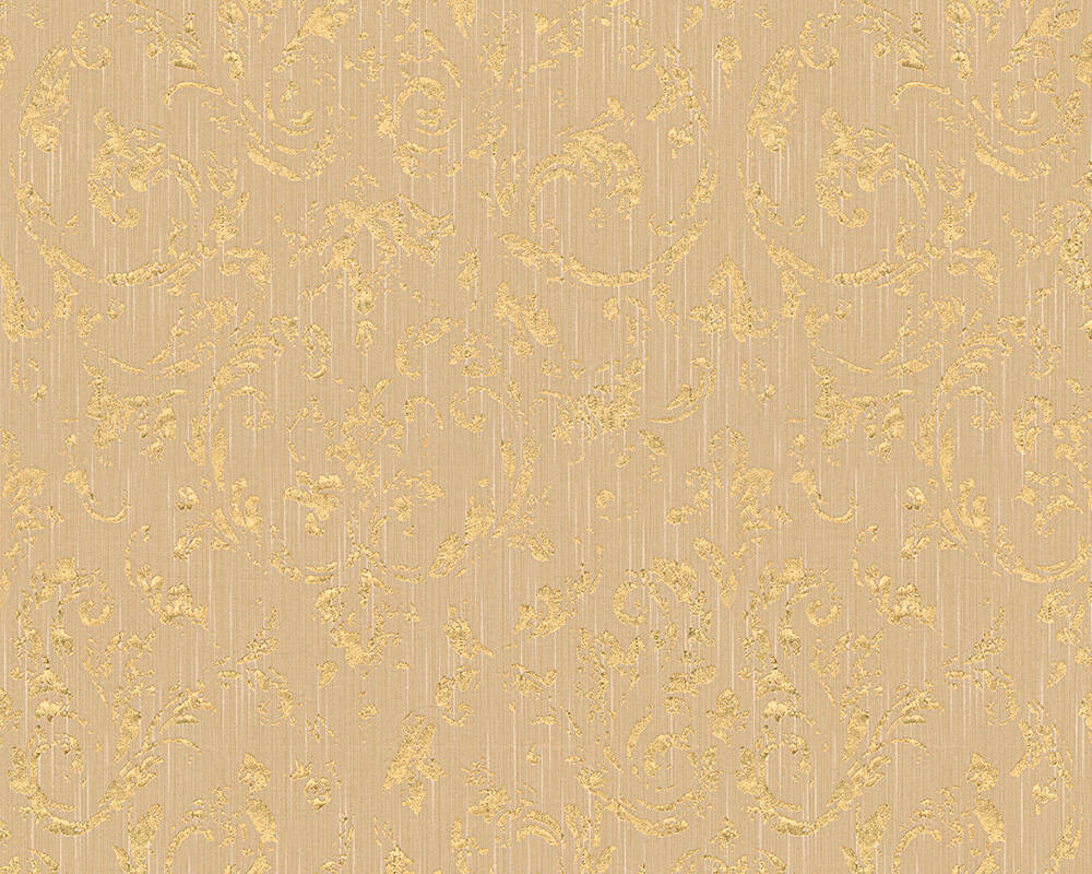 Architects Paper Wallpaper Uni, Beige, Gold, Metallic 306603
