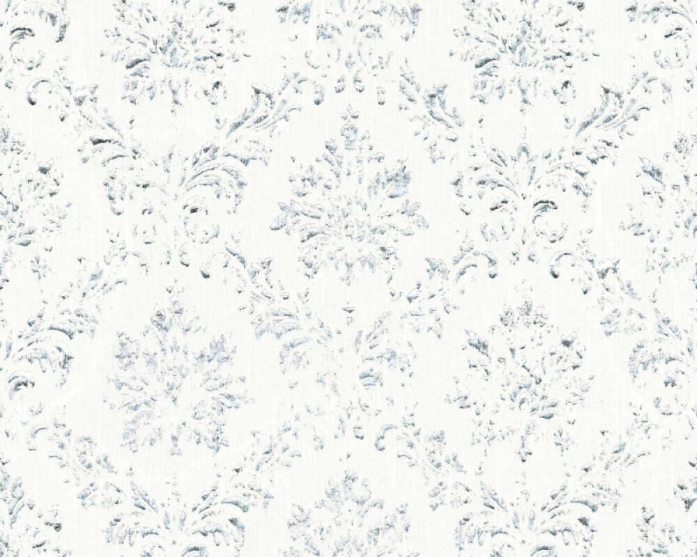 Architects Paper Wallpaper Uni, Metallic, Silver, White 306621