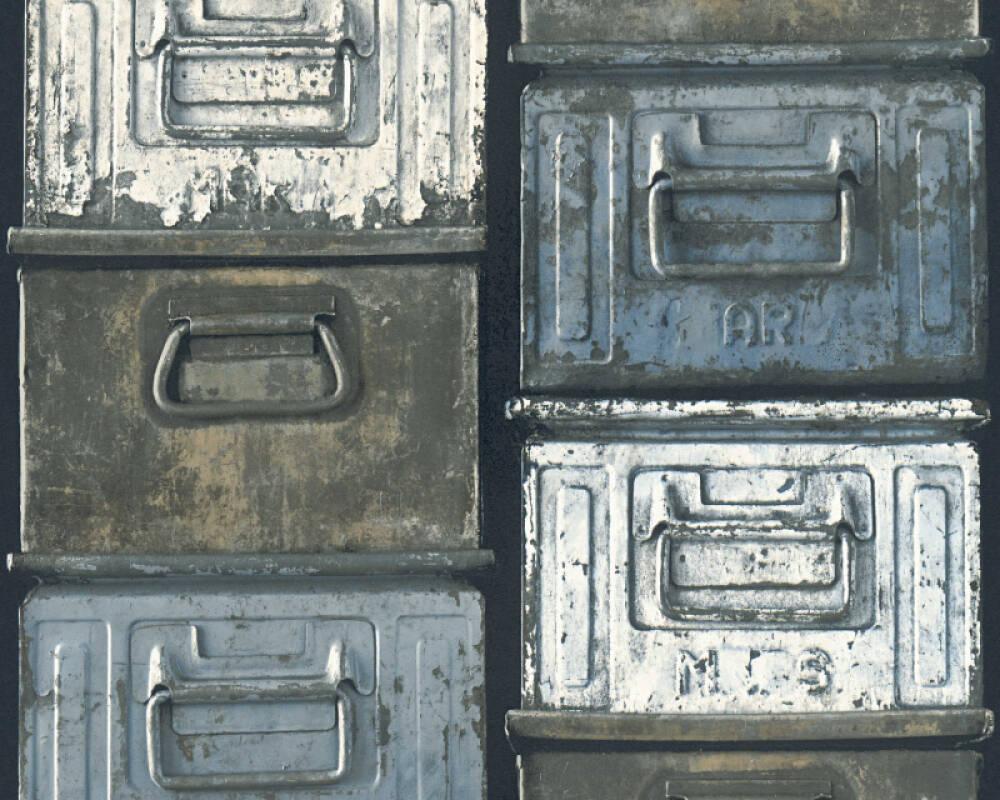 Lutèce Wallpaper Black, Blue, White 306751