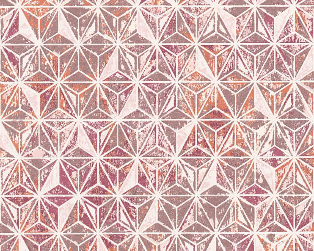 Lutèce Wallpaper Graphics, Beige, Copper, Metallic, Orange 307051