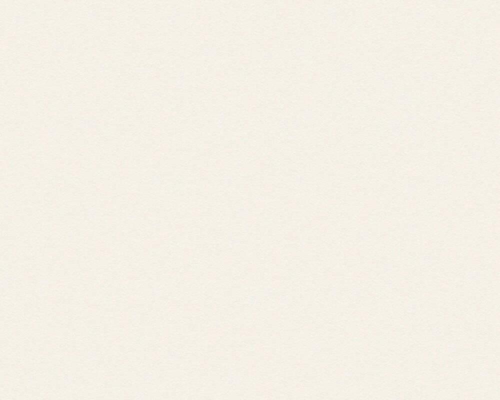 A.S. Création Tapete Uni, Creme, Weiß 309129