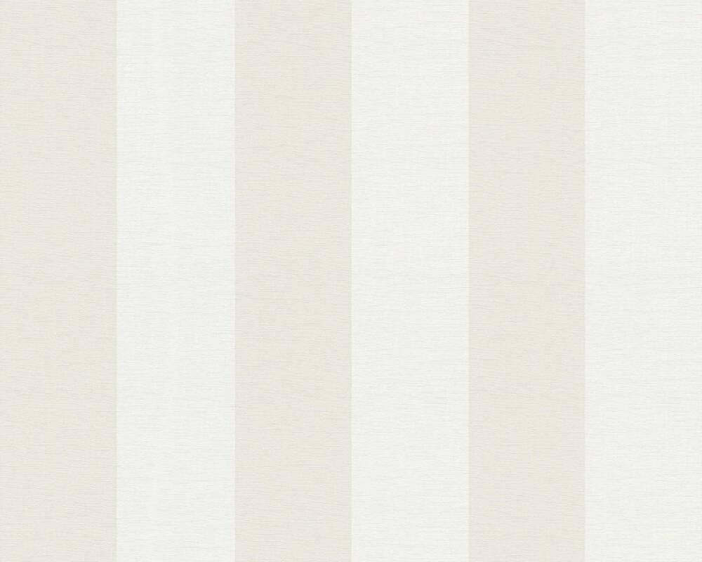Livingwalls Tapete Streifen, Beige, Weiß 314055