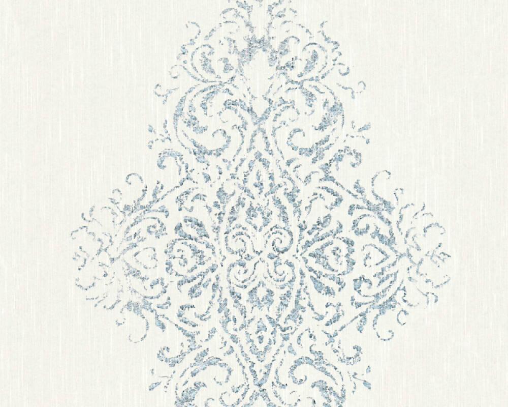 Architects Paper Wallpaper Uni, Metallic, Silver, White 319451