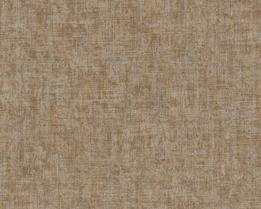 A.S. Création Wallpaper Uni, Brown, Metallic, Silver 322617