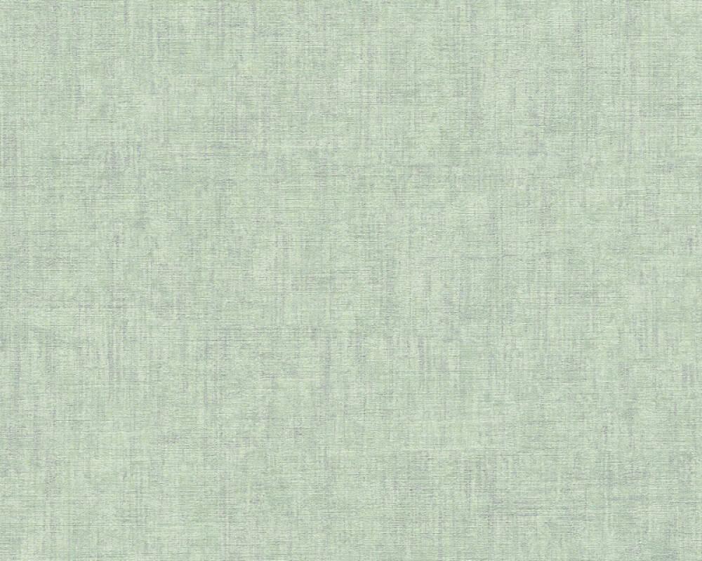 A.S. Création Wallpaper Uni, Green, Metallic, Silver 322619