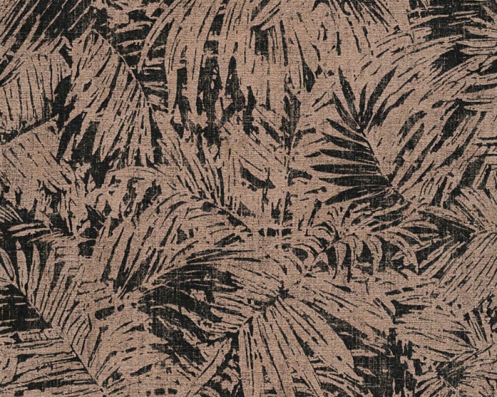 A.S. Création Wallpaper Floral, Black, Bronze, Metallic 322631