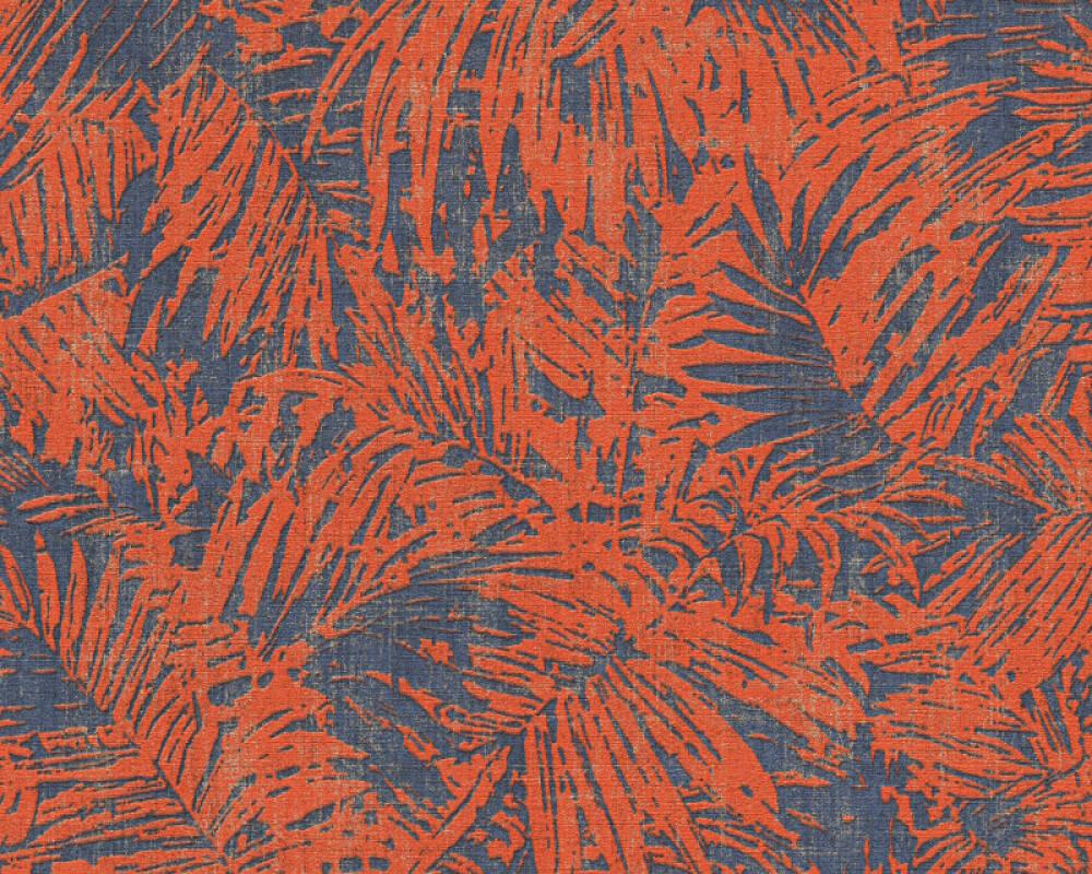 A.S. Création Wallpaper Floral, Blue, Copper, Gold, Metallic 322634