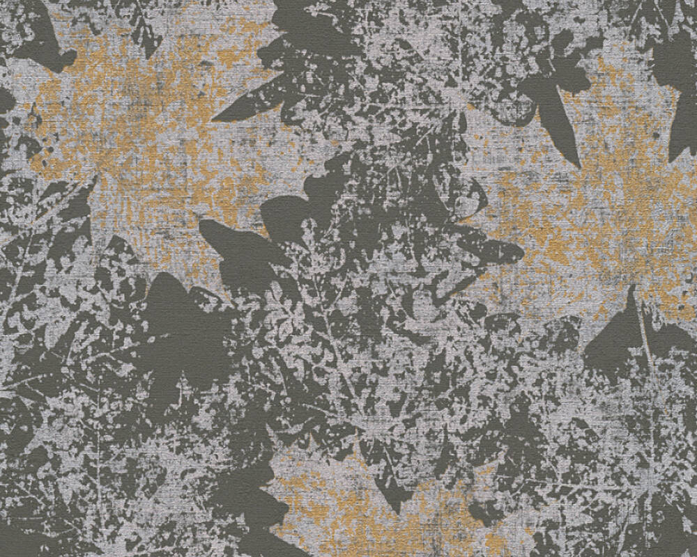 A.S. Création Wallpaper Floral, Gold, Grey, Metallic, Silver 322643