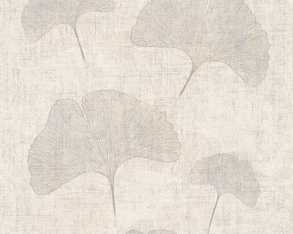 A.S. Création Tapete Floral, Beige, Metallics, Silber 322653