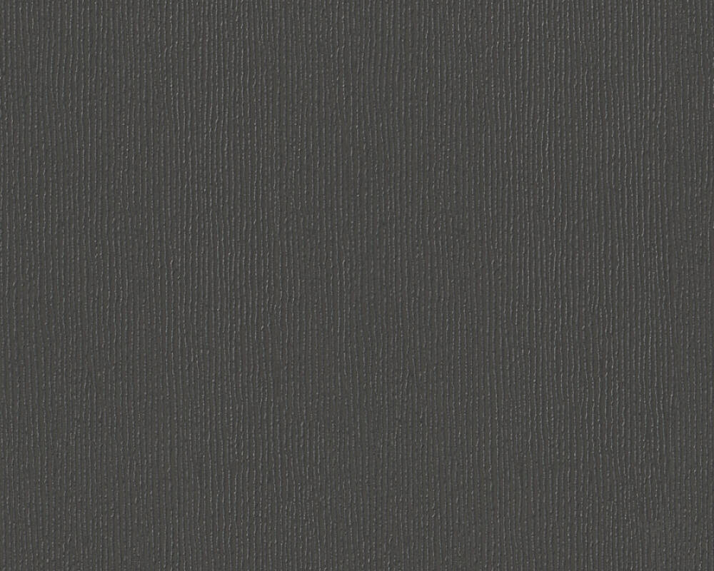 A S Creation Wallpaper Uni Black Metallic 325233