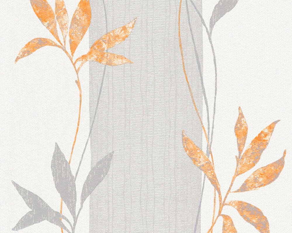 A.S. Création Wallpaper 326541: Wallpaper, wallpapers, wallpaper, wallpaer, walpaper, walpapper, Copper, Grey, Metallic, Orange, Silver, Floral, Modern, Structures, floral, modern, textures, Hallway, Living, Sleeping, corridor, living room, bedroom, Del Sol