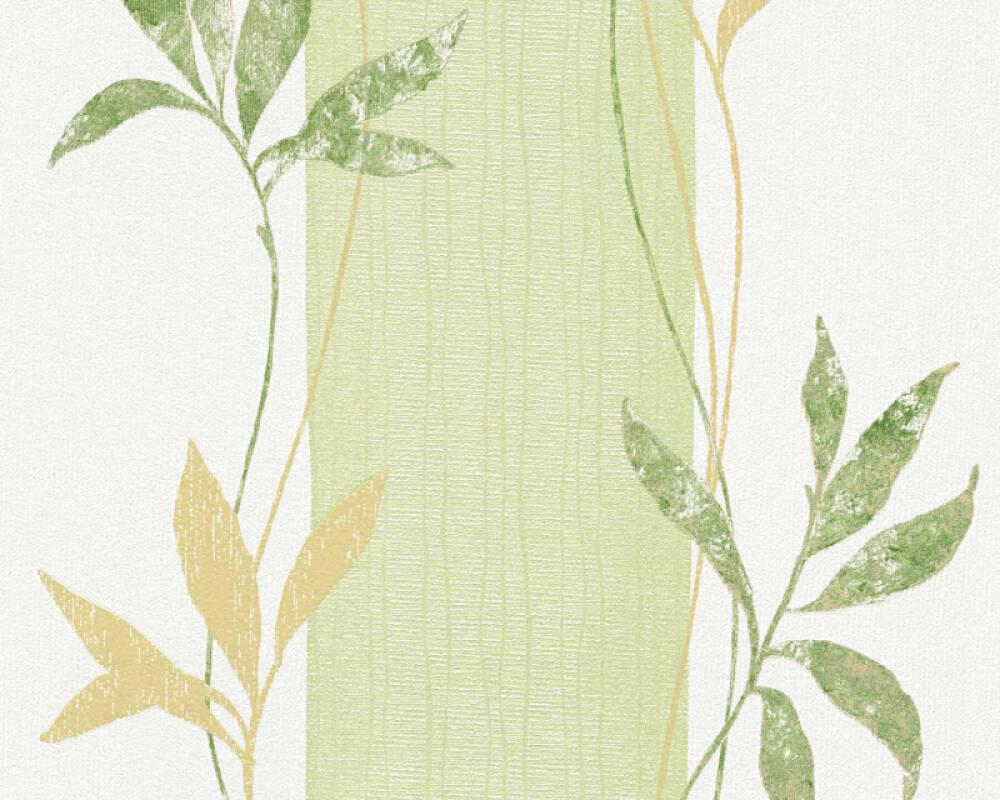 A.S. Création Wallpaper Jungle, Bronze, Green, Metallic, White 326542