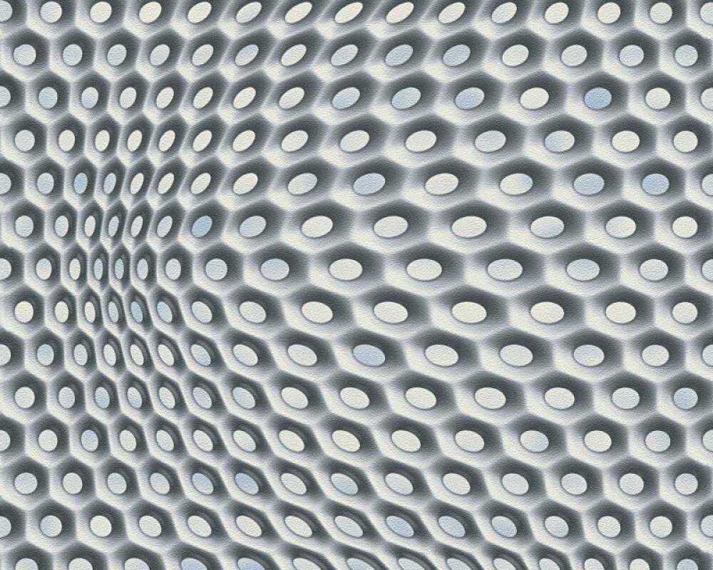3D Moderen grafische Vlies Tapete 32707-2  Mac Stopa Grau, Metallics, Schwarz