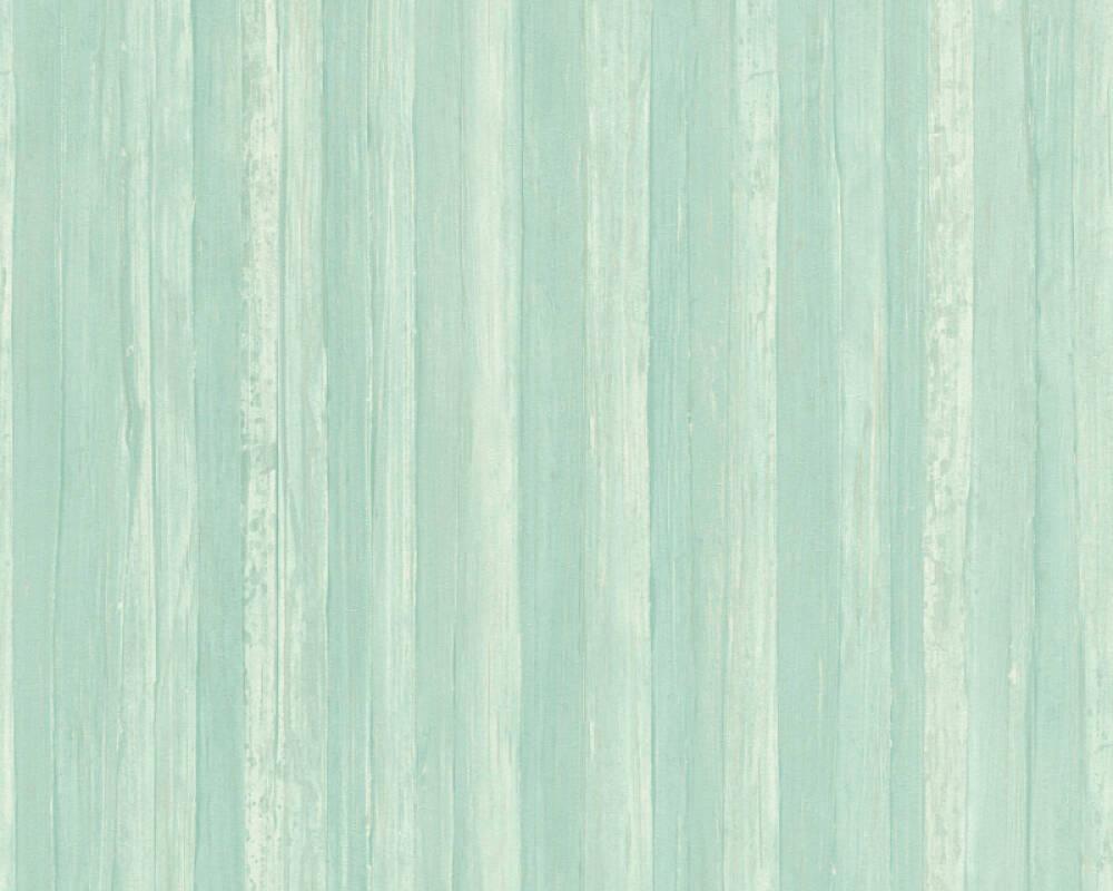 A.S. Création Wallpaper Uni, Blue, Green 327144