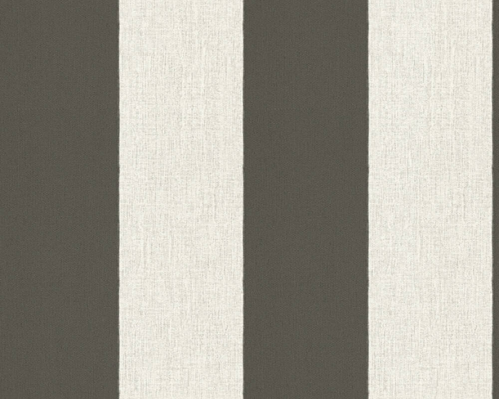 A.S. Création Wallpaper Stripes, Black, Brown, Cream 327182