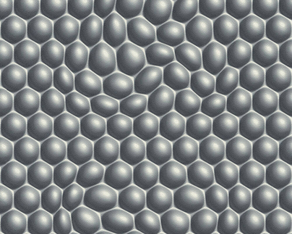 3D Moderen grafische Vlies Tapete 32720-3  Mac Stopa Grau, Metallics, Schwarz