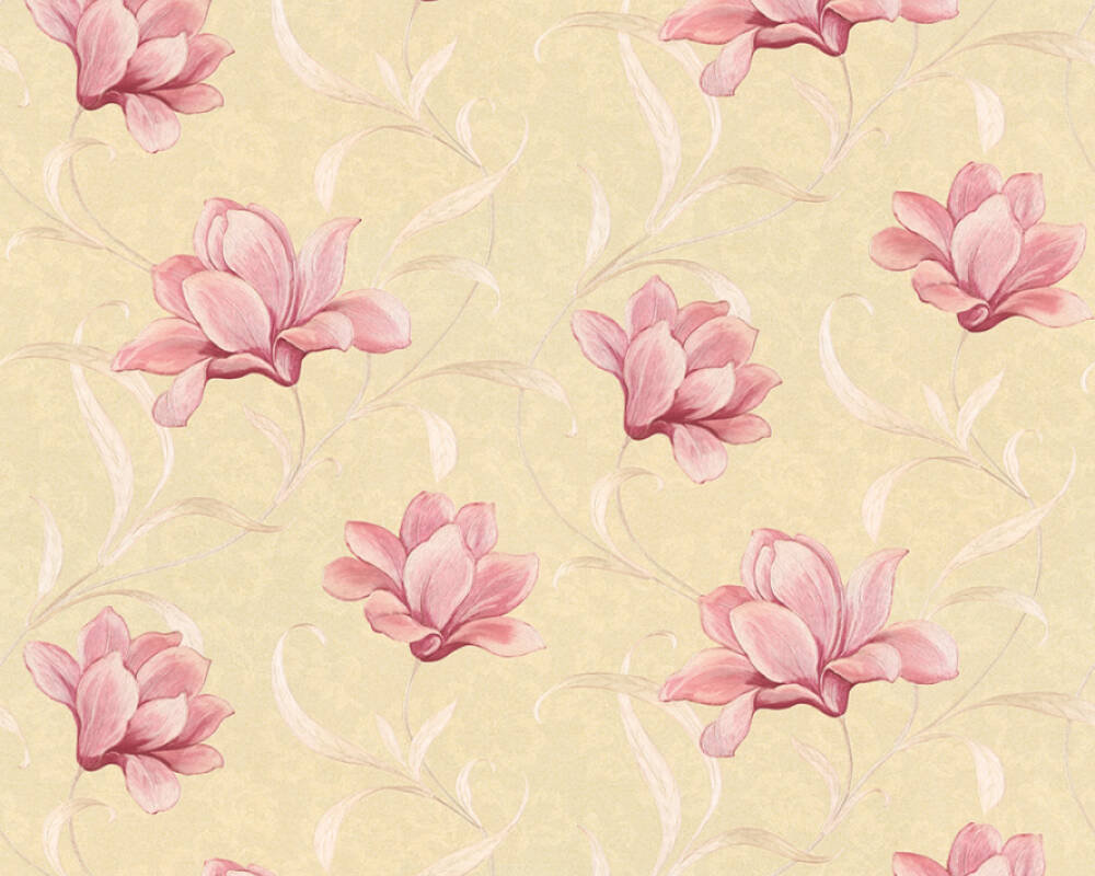 Originals Wallpaper Floral Beige Gold Metallic Pink 327482