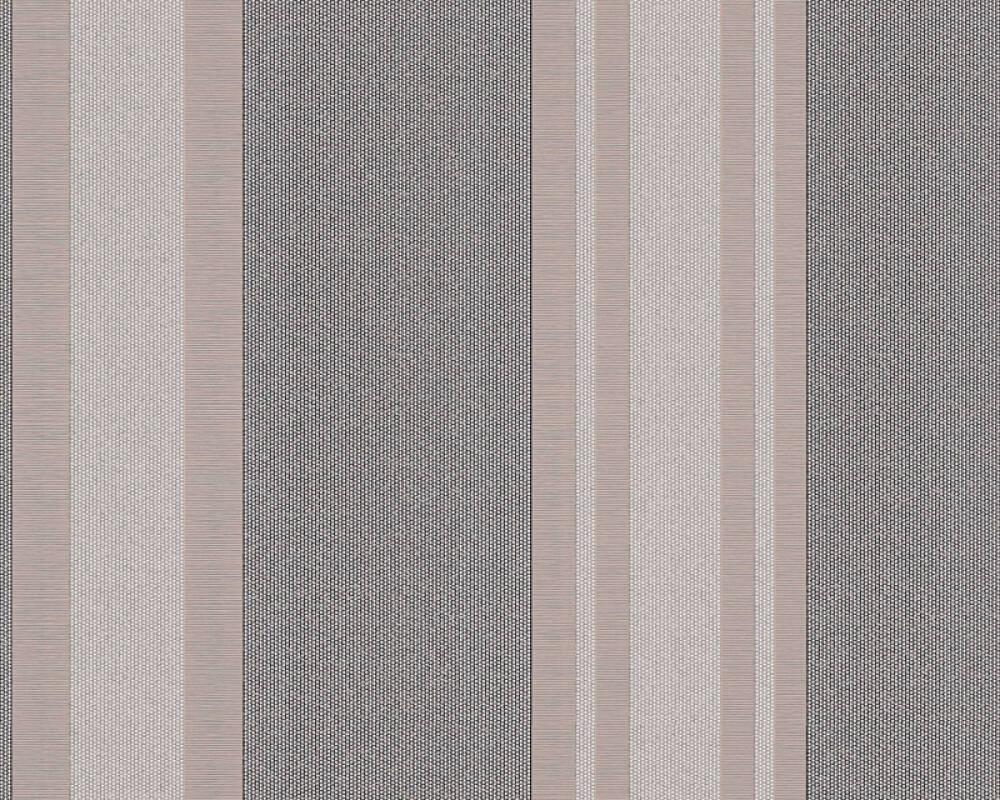 A.S. Création Wallpaper Stripes, Beige, Grey, Metallic, Silver 327543