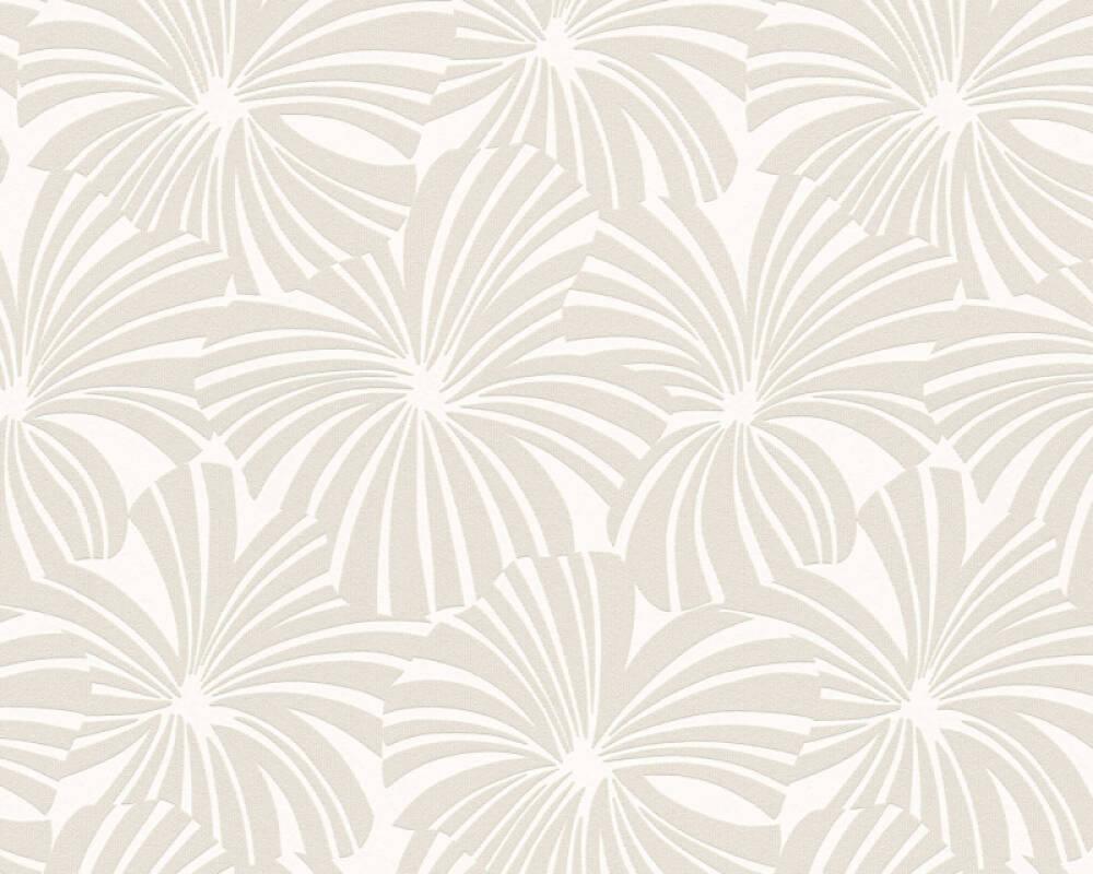 Esprit Home papier peint Fleurs, crème, gris 327591