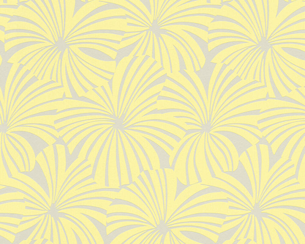 Esprit Art Deco Com esprit home wallpaper «flowers, beige, yellow» 327593