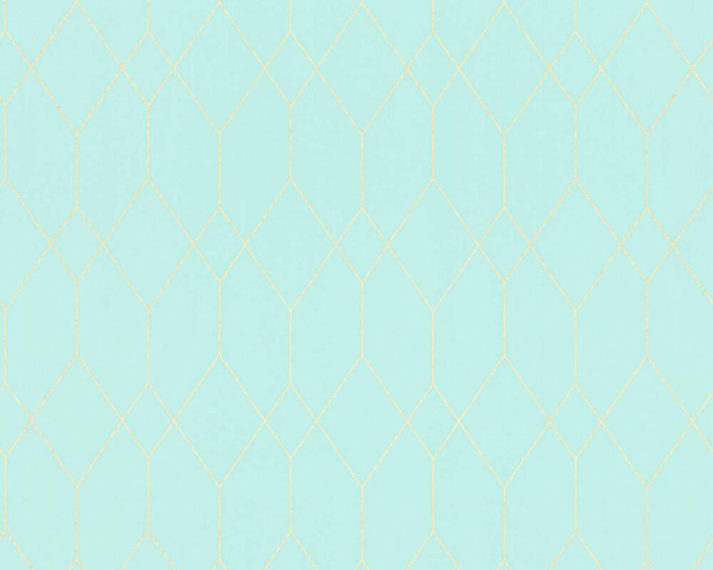 Esprit Home Wallpaper Graphics, Blue, Gold, Green, Metallic 327922