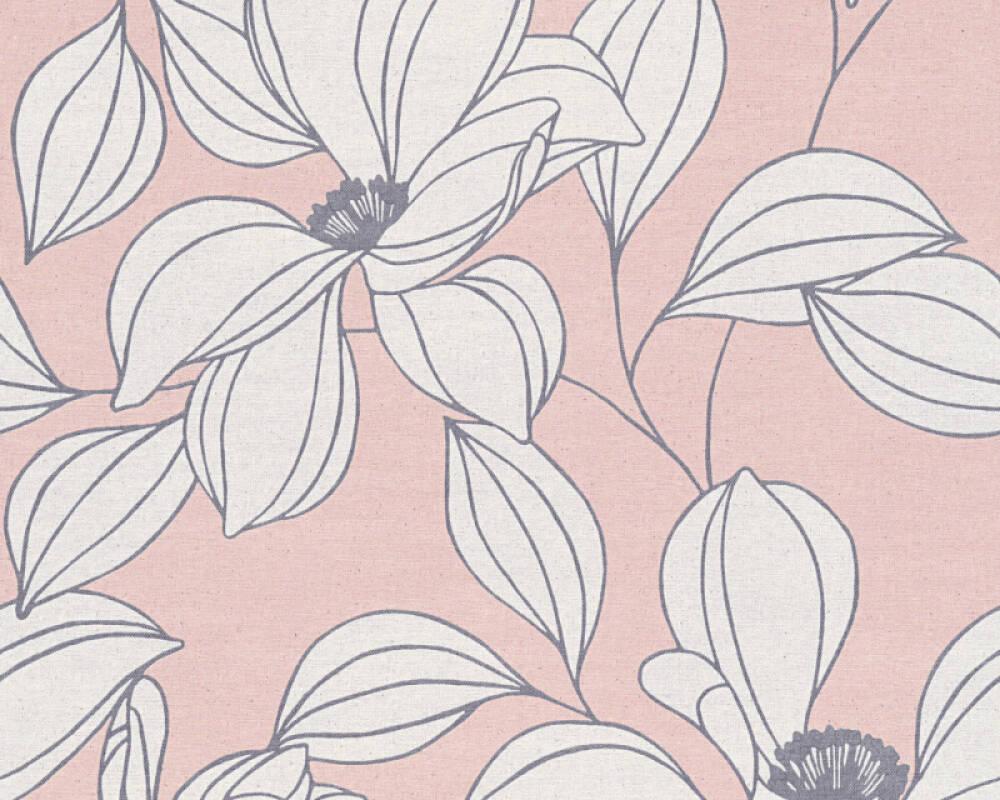 Floral Vliestapete - Urban Flowers - 327952 32795-2 - Grau, Rot, Schwarz