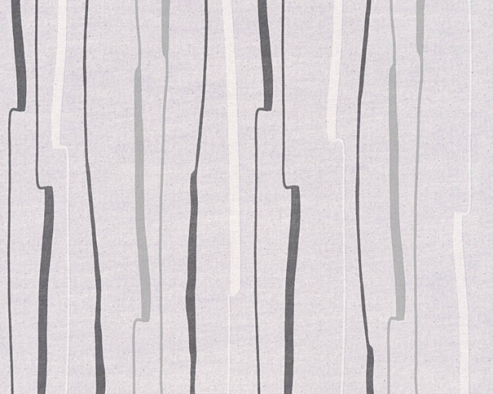 Papier Peint A Rayure Gris Et Blanc a.s. création papier peint «rayures, blanc, gris, noir» 327961