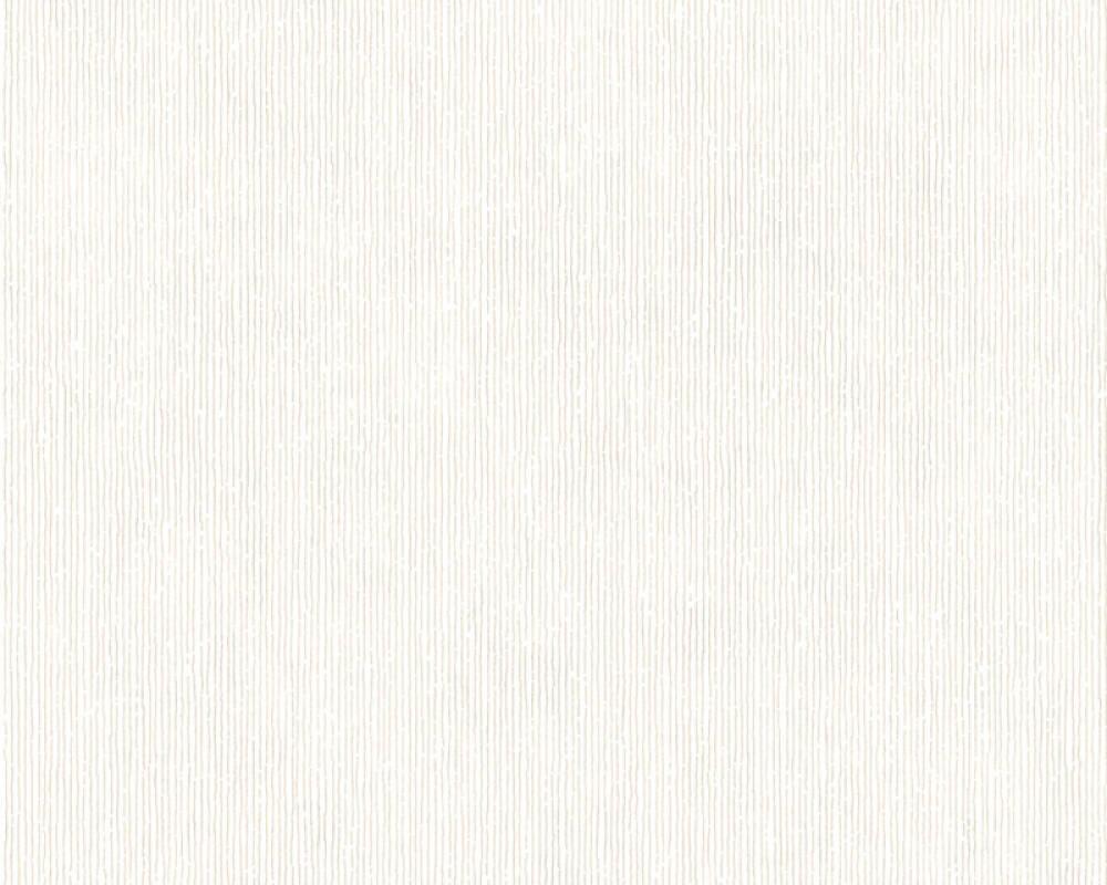 Modern, Streifen Papiertapete - Urban Flowers - 328052 32805-2 - Metallics, Weiß