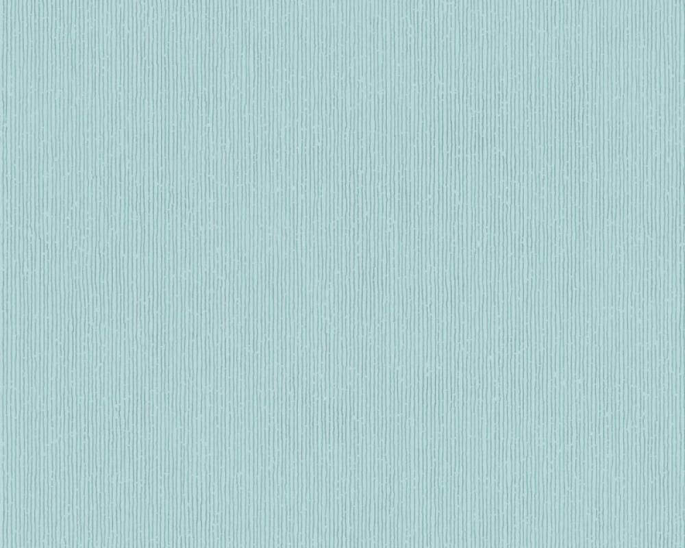 Modern, Streifen Papiertapete - Urban Flowers - 328057 32805-7 - Blau, Metallics