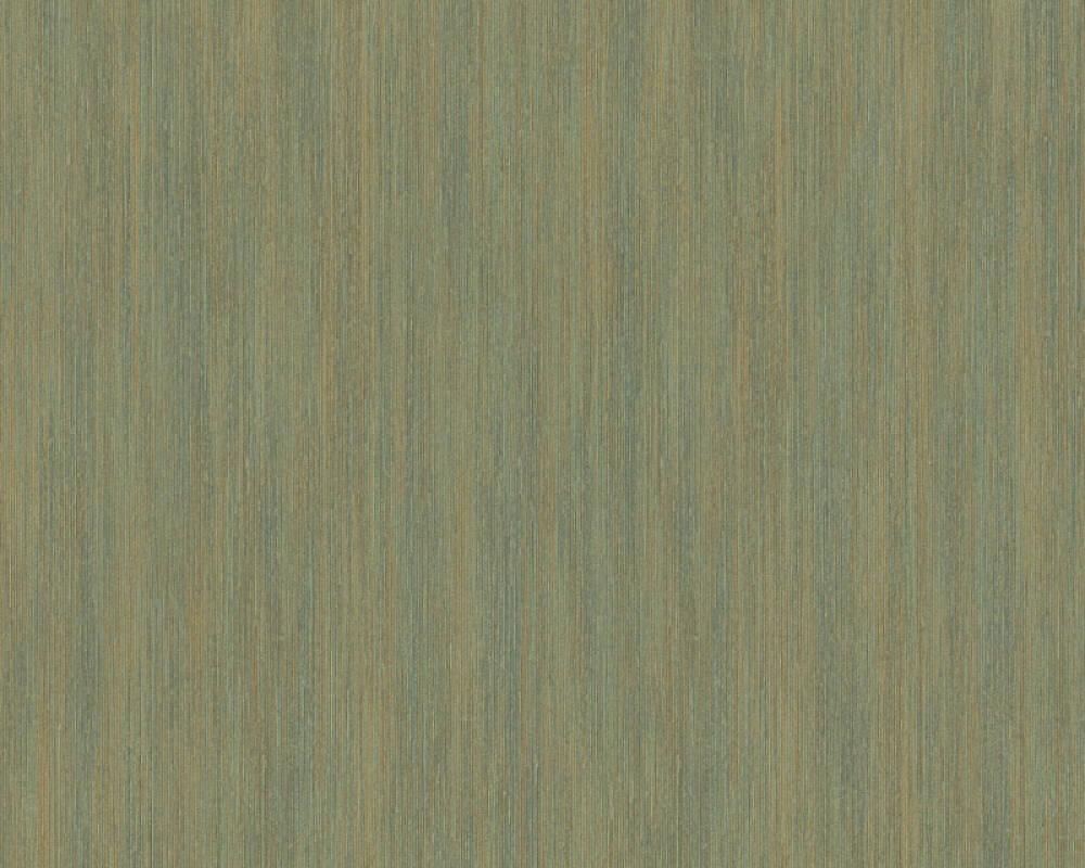 A.S. Création papier peint Uni, métallique, or, vert 328821