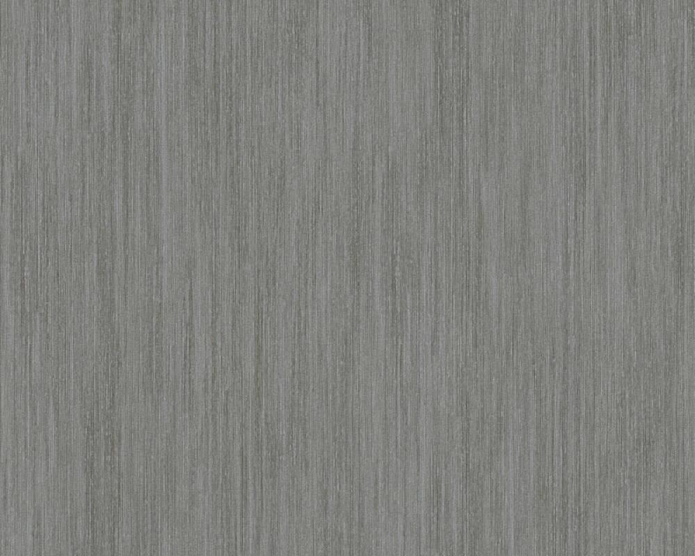 A.S. Création papier peint Uni, argent, gris, métallique, noir 328834