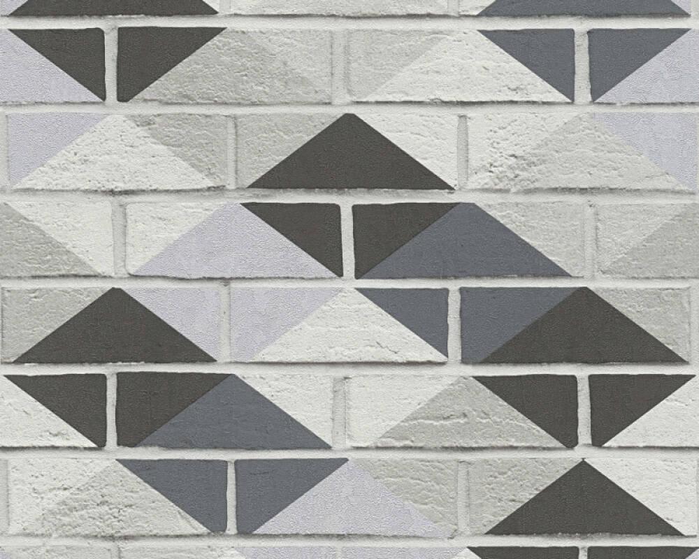 A S Creation Wallpaper Stone Black Grey Metallic Silver 330881