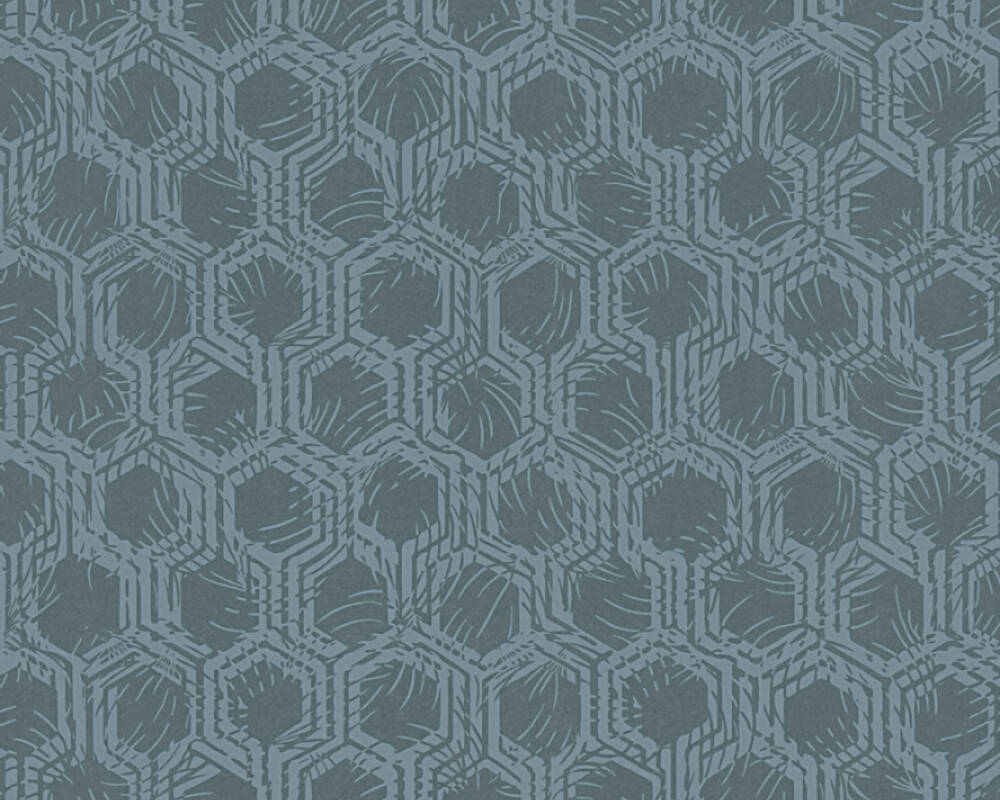 Architects Paper Wallpaper Graphics, Blue, Metallic 333274