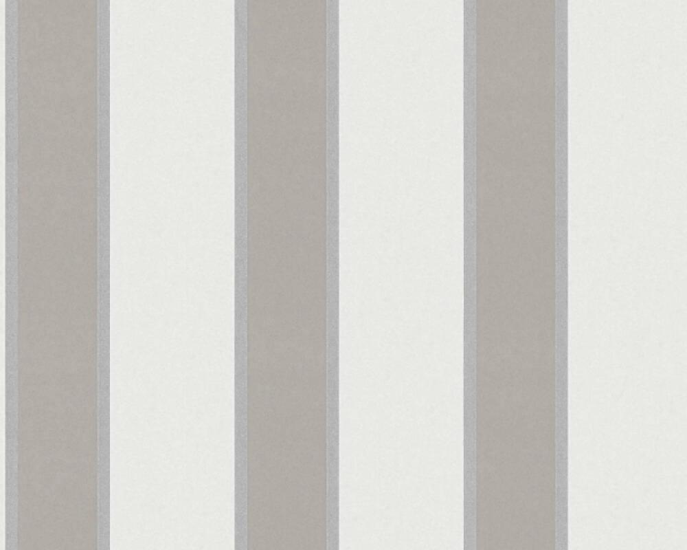 Architects Paper Wallpaper Stripes, Beige, Brown, Metallic 333291