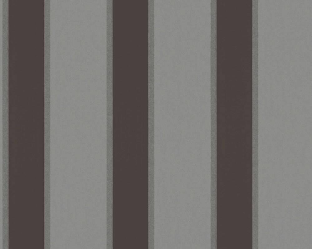 Architects Paper papier peint Rayures, gris, métallique, noir 333294