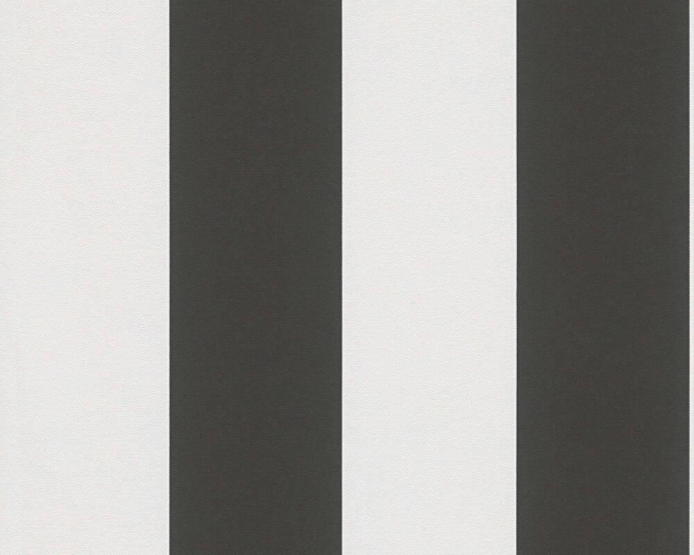 A.S. Création Wallpaper Stripes, Black, White 334213