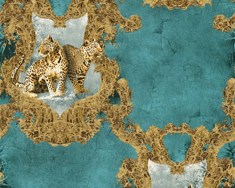 A S Creation Tapete Barock Blau Braun Gold Turkis 335435