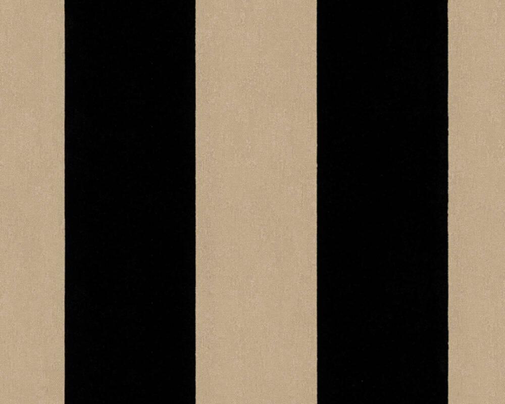 Architects Paper Wallpaper Stripes, Black, Metallic 335814
