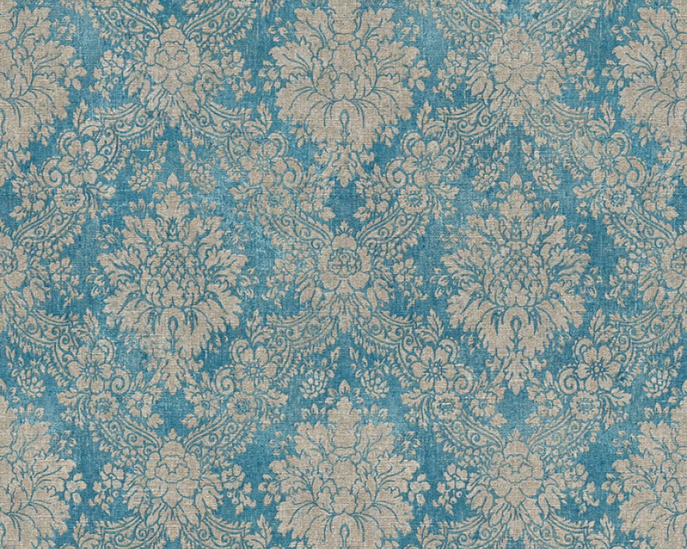 Livingwalls Tapete Barock, Blau, Braun, Metallics 336075