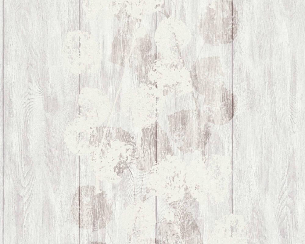 Brigitte Home Wallpaper Wood, Brown, Cream, Metallic 339262