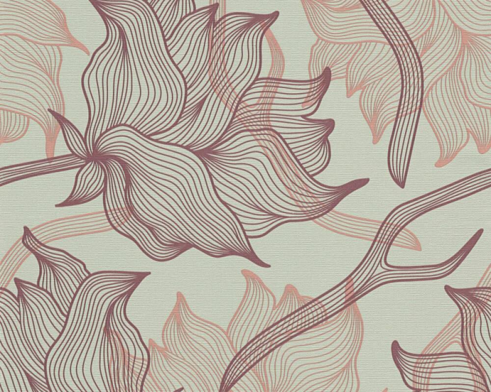 Colourcourage® Premium Wallpaper by Lars Contzen Tapete Grafik, Floral, Grau, Violett 340892