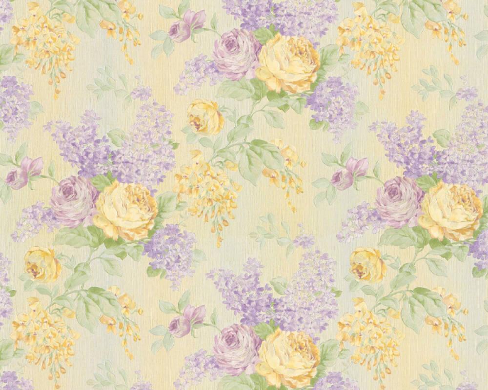 ORIGINALS Wallpaper Floral, Cream, Gold, Green, Metallic 341481