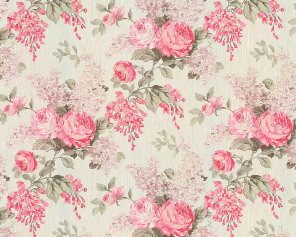 Originals Wallpaper Floral Cream Metallic Pink 341483