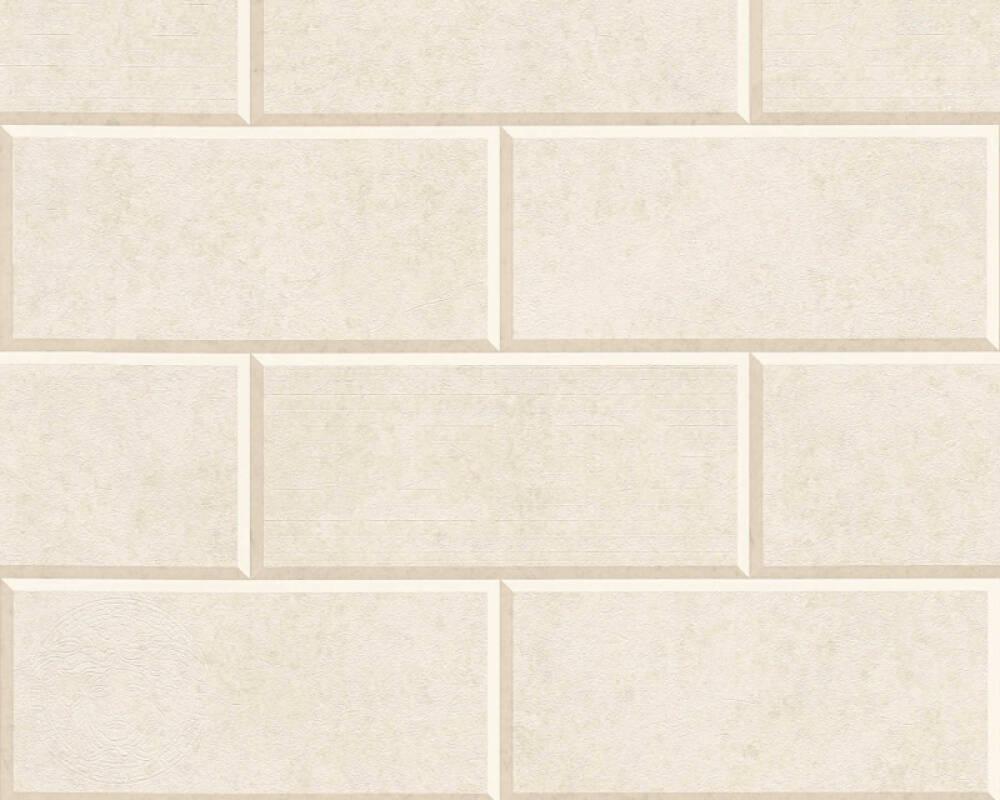 Versace Home Tapete Fliesen, Beige, Creme 343225