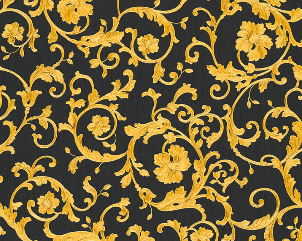 Black And Gold Wallpaper For Living Room