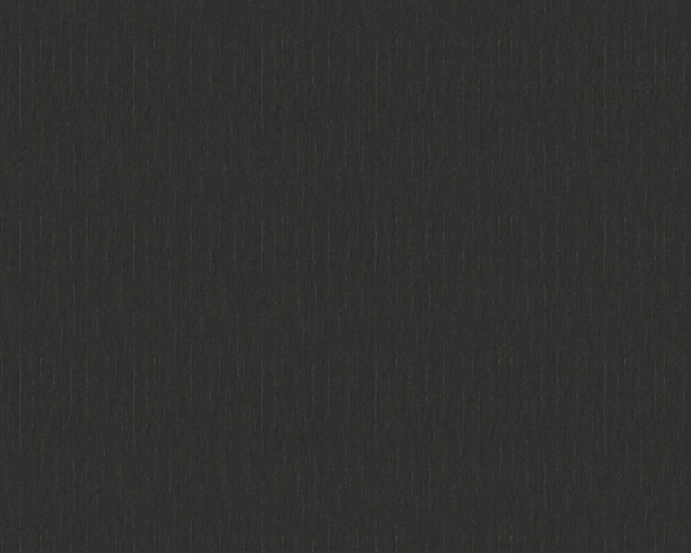 Versace Home Wallpaper Uni, Black, Metallic 343273