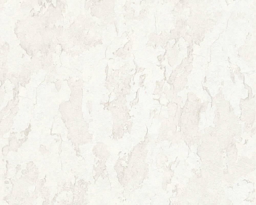 A.S. Création papier peint Béton, blanc, gris 343972