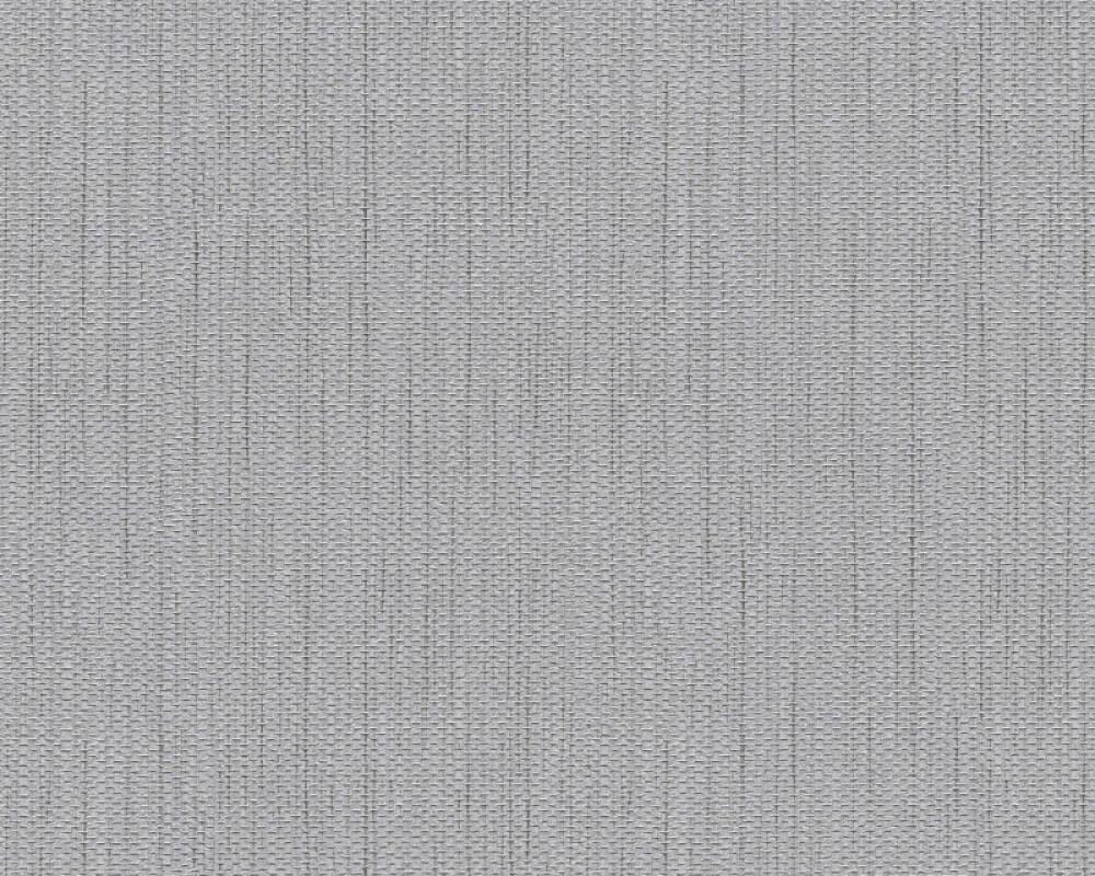 A.S. Création Wallpaper Uni, Grey, Metallic 344328